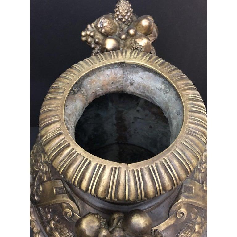 Claude Michel Clodion Doré Patinated and Gilt Bronze Vase For Sale 3