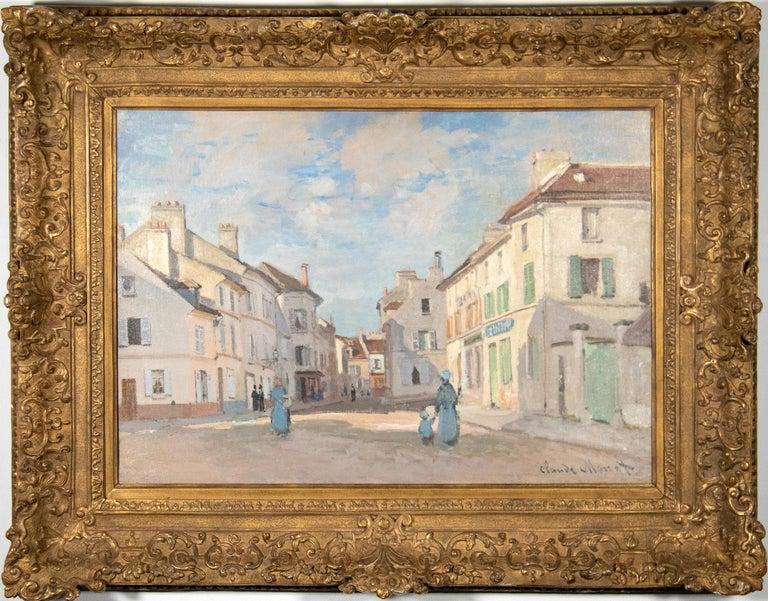 L'Ancienne rue de la Chaussée, Argenteuil - Painting by Claude Monet