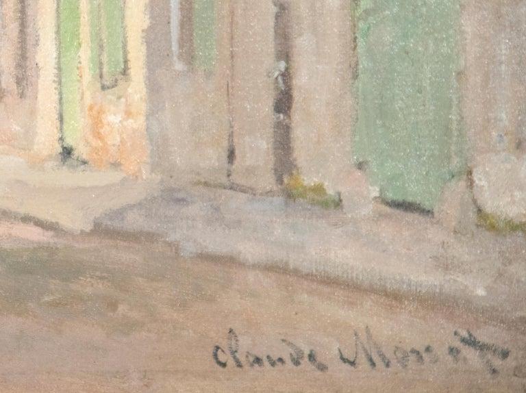 L'Ancienne rue de la Chaussée, Argenteuil - Impressionist Painting by Claude Monet