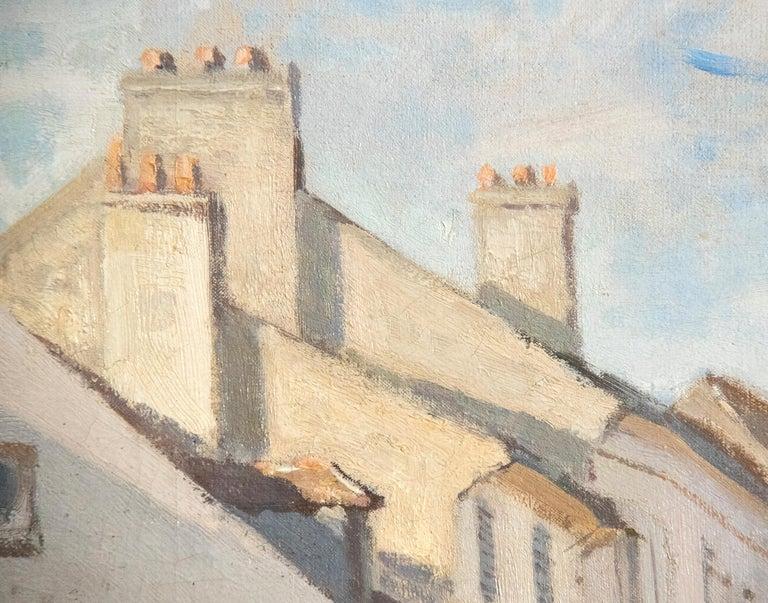 L'Ancienne rue de la Chaussée, Argenteuil - Beige Landscape Painting by Claude Monet