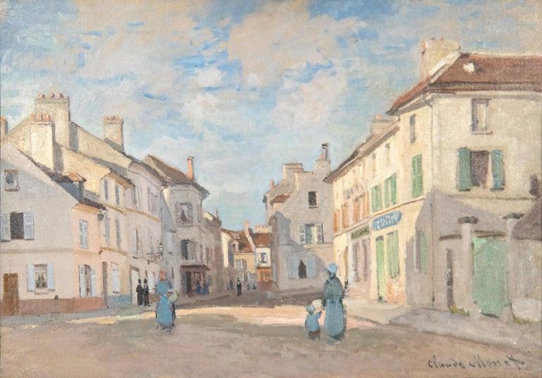 Claude Monet Landscape Painting - L'Ancienne rue de la Chaussée, Argenteuil
