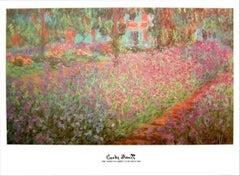 "Claude Monet - ""Garden at Giverny"" - unique lithograph"