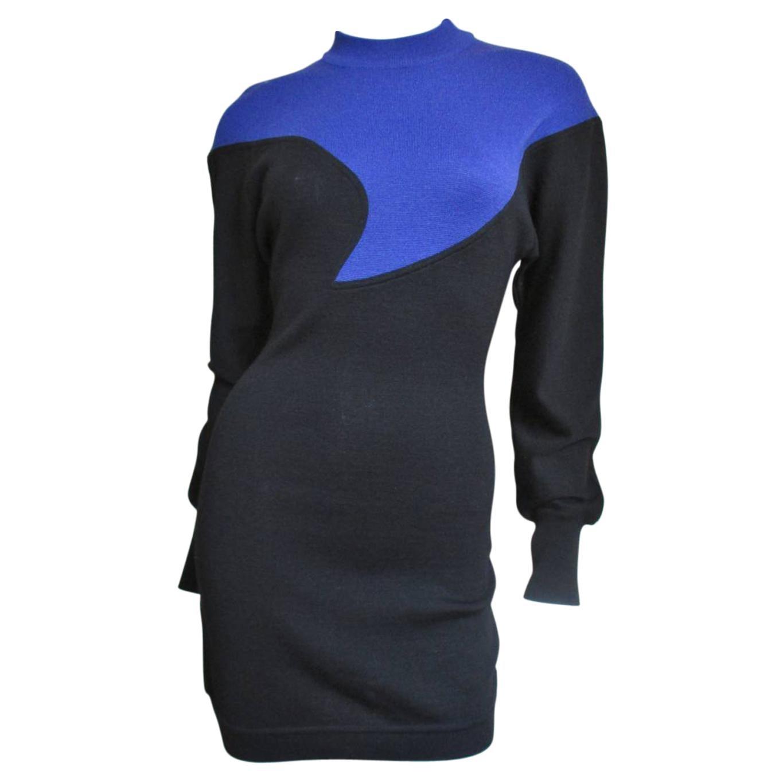 Claude Montana Color Block Sweater Dress
