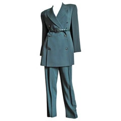 Claude Montana Jacket, Skirt and Pants Suit 1980s