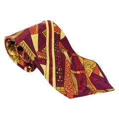 Claude Montana Mens Pure Silk Tie