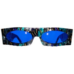 Claude Montana / Mikli New Wave 1980's Vintage Multi Colored Textured Frames