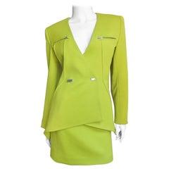 Claude Montana New Futuristic Skirt Suit