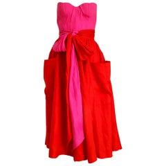 "Claude MONTANA ""New"" Haute Couture Corset Knotted Bands Waist, Dress - Unworn"