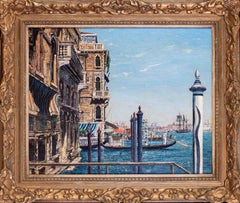 British, 20th Century painting of Venice by West Sussex artist Claude Muncaster