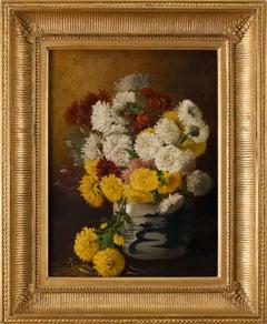 Chrysanthemums in a Canton Vase