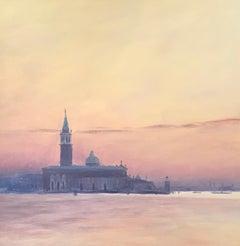 Lakeside landscape on the bay of Venice