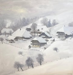 Snow in Hirsegg, Bern Switzerland