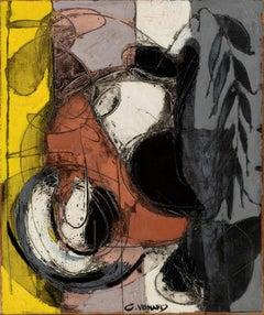 Post-Cubist Still-Life Painting by Claude Venard 'Nature Morte'