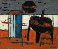 Post-Cubist 20th Century Oil Painting by Claude Venard 'Cabane de Plage'