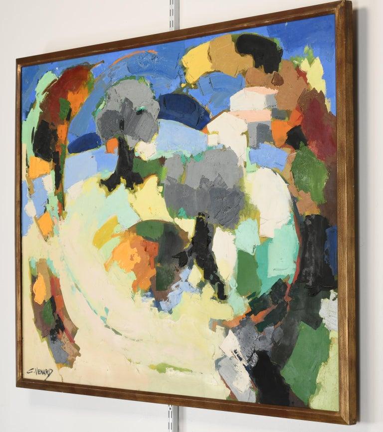 Claude Venard Post Cubist Oil Painting, 1970 For Sale 4