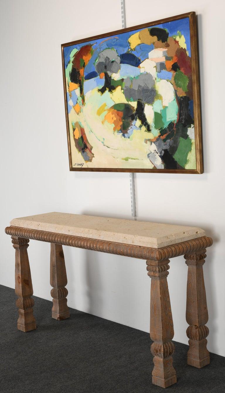 Claude Venard Post Cubist Oil Painting, 1970 For Sale 5