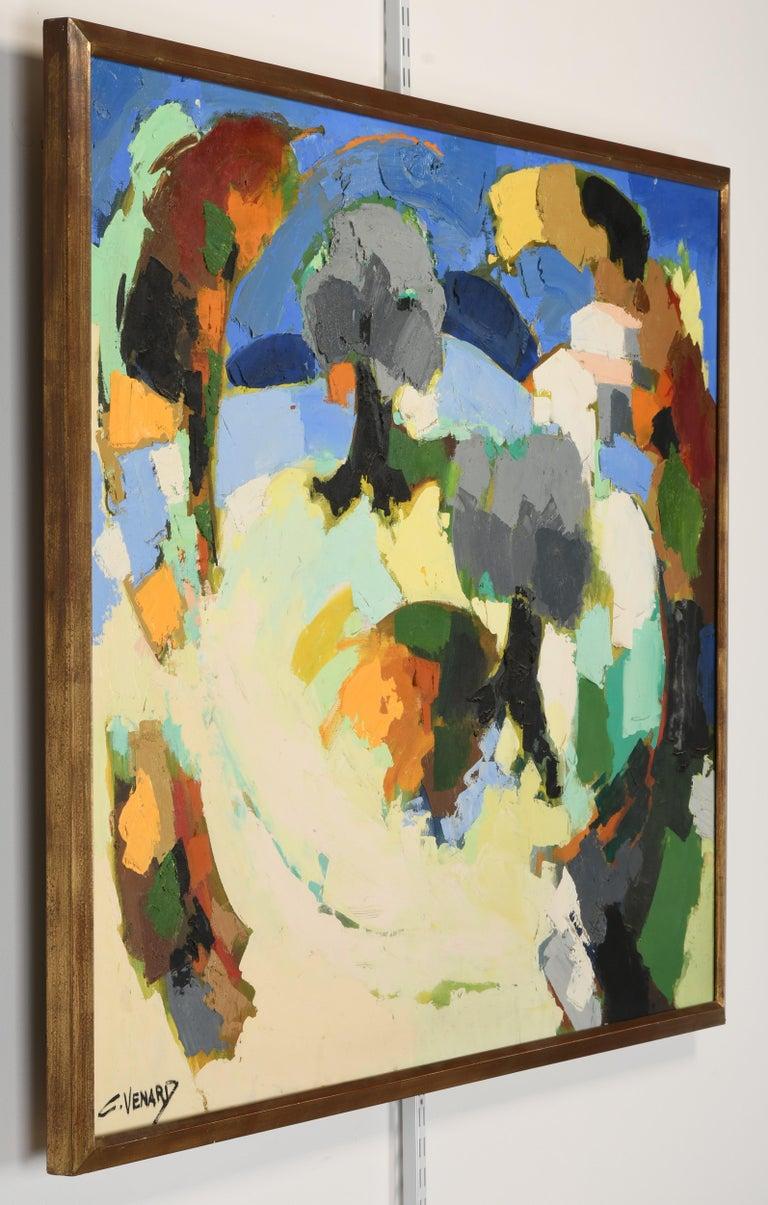 Claude Venard Post Cubist Oil Painting, 1970 For Sale 7