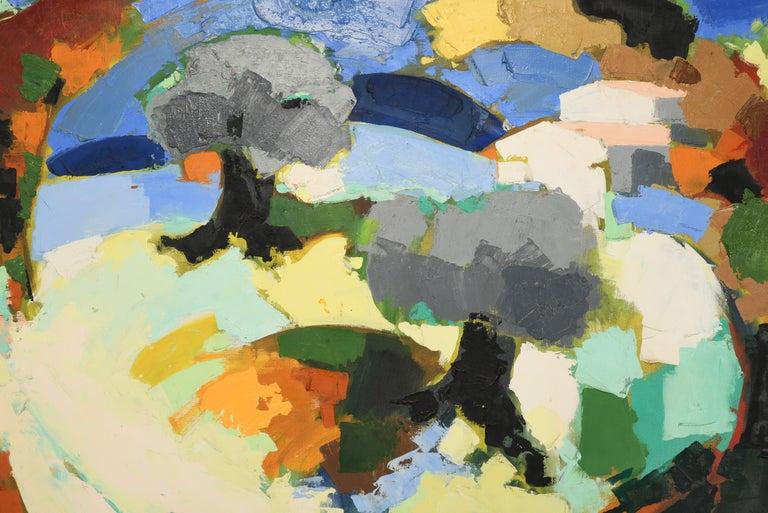Late 20th Century Claude Venard Post Cubist Oil Painting, 1970 For Sale