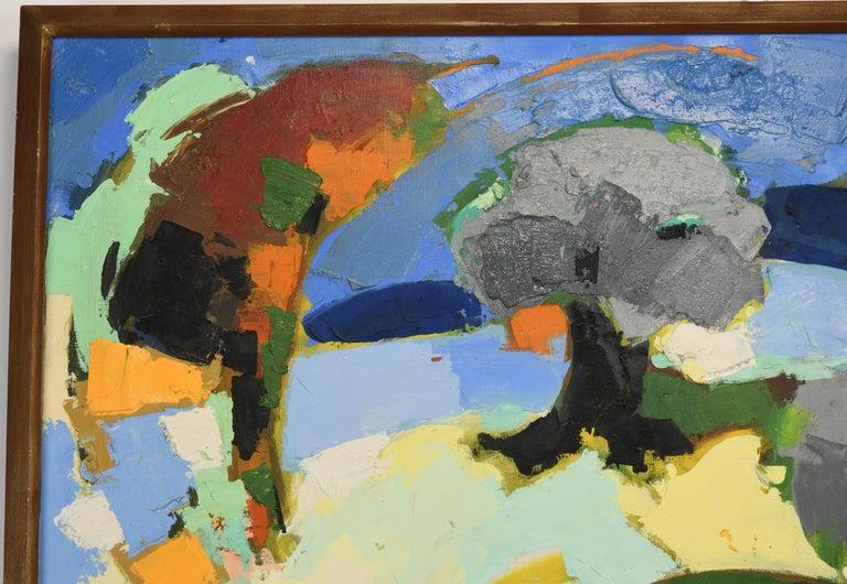 Claude Venard Post Cubist Oil Painting, 1970 For Sale 2