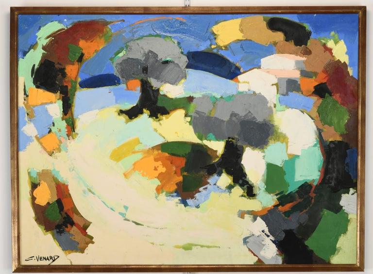 Claude Venard Post Cubist Oil Painting, 1970 For Sale 3