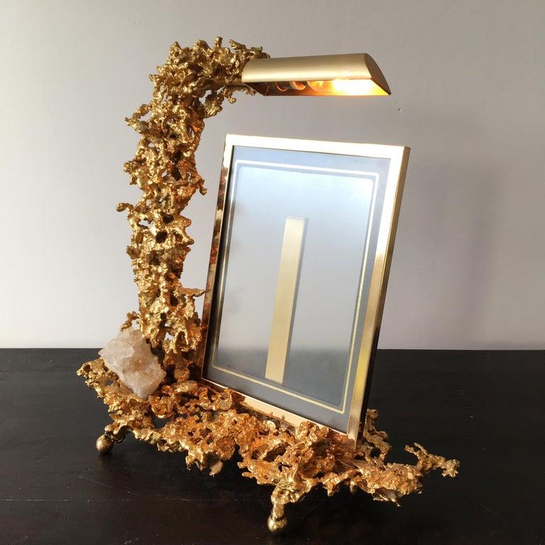Mid-Century Modern Claude Victor Boeltz 24 Karat Gold-Plated 'Exploded' Photograph Frame For Sale