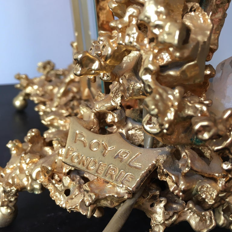 French Claude Victor Boeltz 24 Karat Gold-Plated 'Exploded' Photograph Frame For Sale