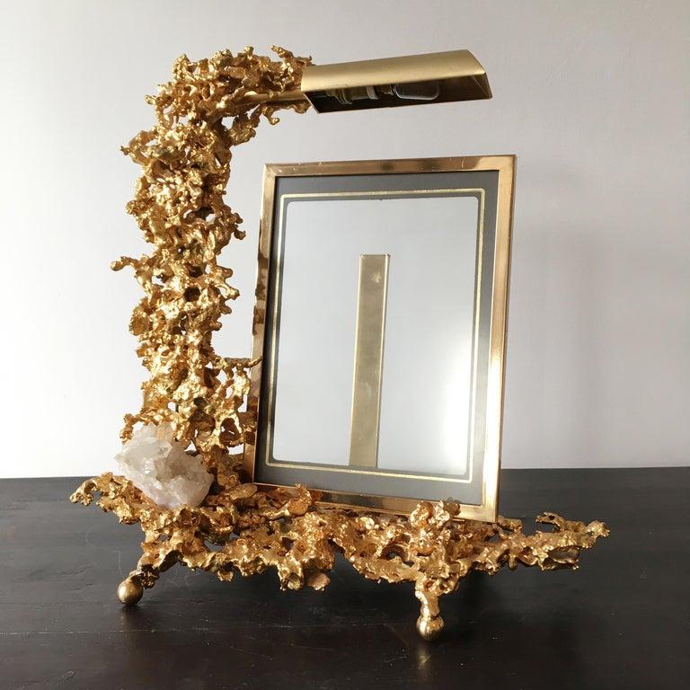 Bronze Claude Victor Boeltz 24 Karat Gold-Plated 'Exploded' Photograph Frame For Sale