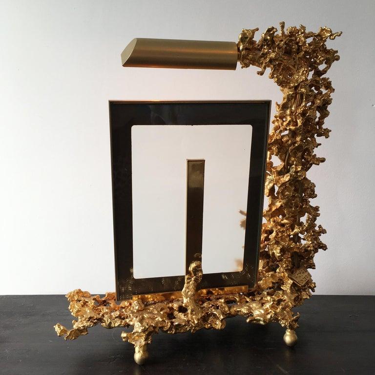 Claude Victor Boeltz 24 Karat Gold-Plated 'Exploded' Photograph Frame For Sale 1