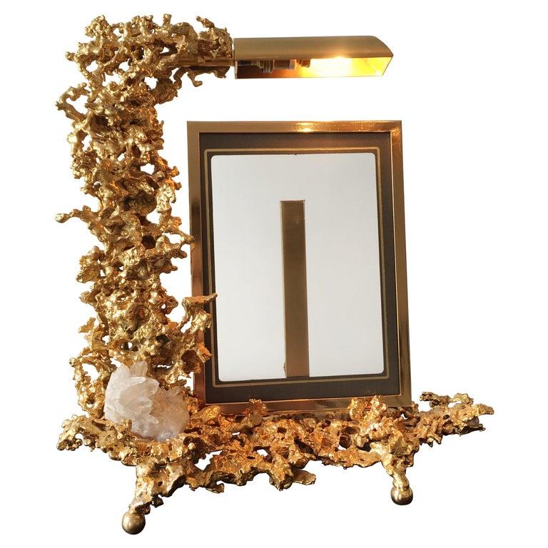Claude Victor Boeltz 24 Karat Gold-Plated 'Exploded' Photograph Frame For Sale