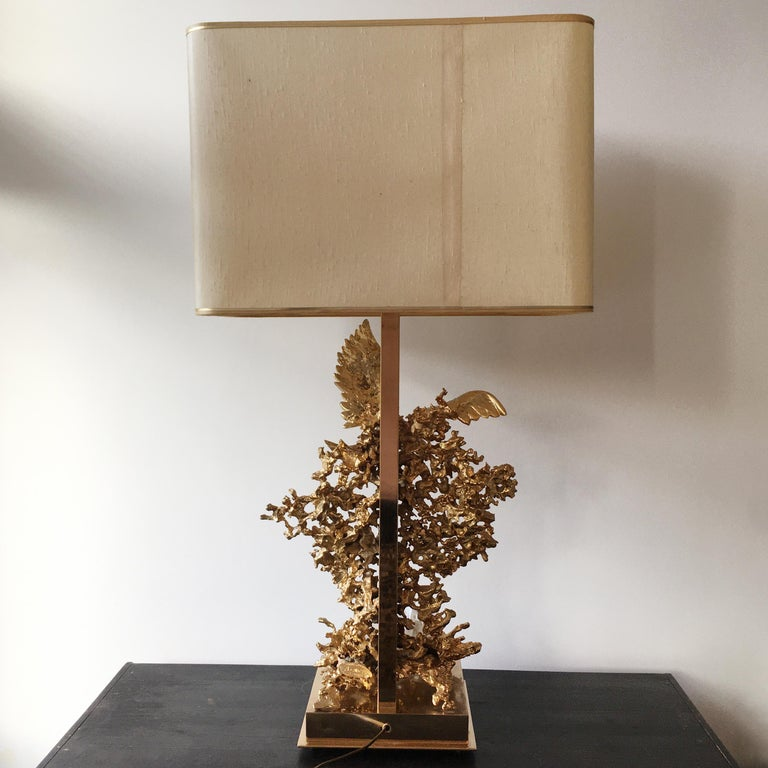 Claude Victor Boeltz 24-Karat Gold Plated 'Exploded' Table Lamp For Sale 4