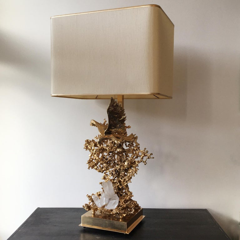 Mid-Century Modern Claude Victor Boeltz 24-Karat Gold Plated 'Exploded' Table Lamp For Sale