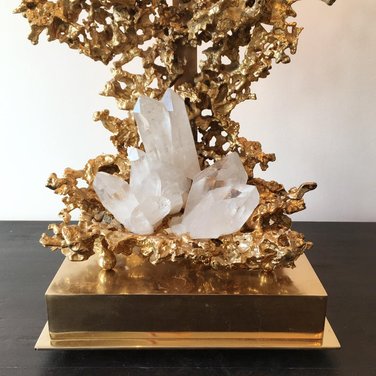 Claude Victor Boeltz 24-Karat Gold Plated 'Exploded' Table Lamp In Good Condition For Sale In Hastings, GB