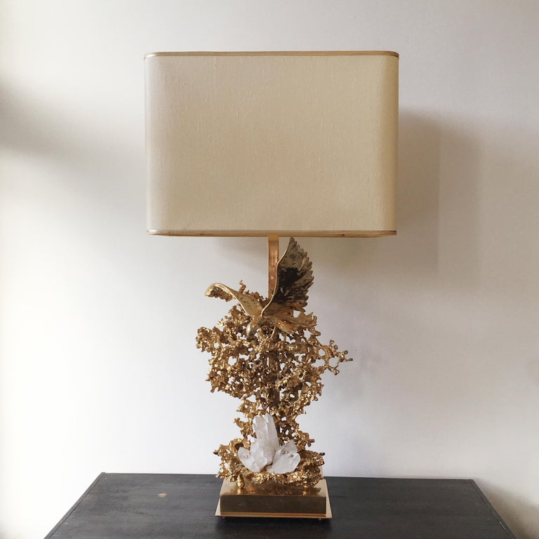 20th Century Claude Victor Boeltz 24-Karat Gold Plated 'Exploded' Table Lamp For Sale
