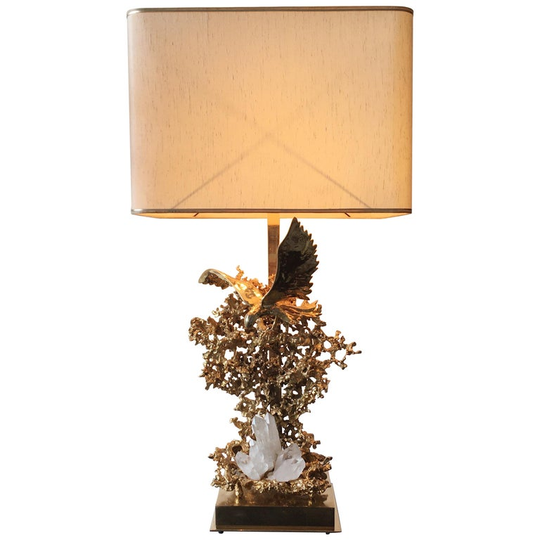 Claude Victor Boeltz 24-Karat Gold Plated 'Exploded' Table Lamp For Sale