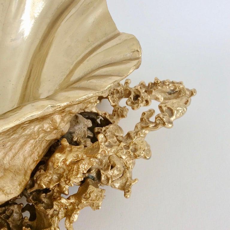 Claude Victor Boeltz Gilded Bronze and Quartz Table Centerpiece, France For Sale 4