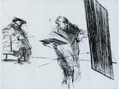 """Le Portrait Termine,"" original drypoint by Claude Weisbuch"