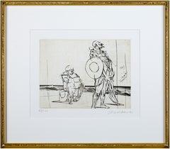 'Don Quichotte & Sancho Panza' signed drypoint from 'Don Quichotte De La Manche'
