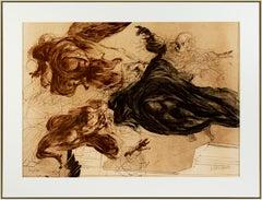 'Hommage à Michel-Ange' original signed lithograph, Sistine chapel 1970s