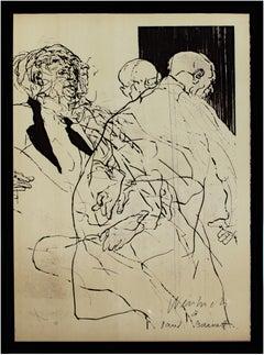 'Il bouge sans arrêt' original signed lithograph poster after drypoint, 1960s
