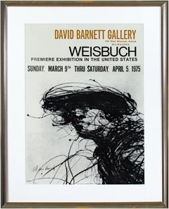 Premiere U.S. Exhibition Poster at David Barnett Gallery, signed by Weisbuch