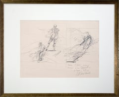 'Three Studies' original signed drawing, Venus de Milo & Victory of Samothrace