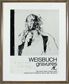 'Weisbuch gravures' original signed exhibition poster Musée d'Art Moderne Paris