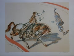 Zungaro (Horse and Acrobats at the Circus) - Original handsigned lithograph