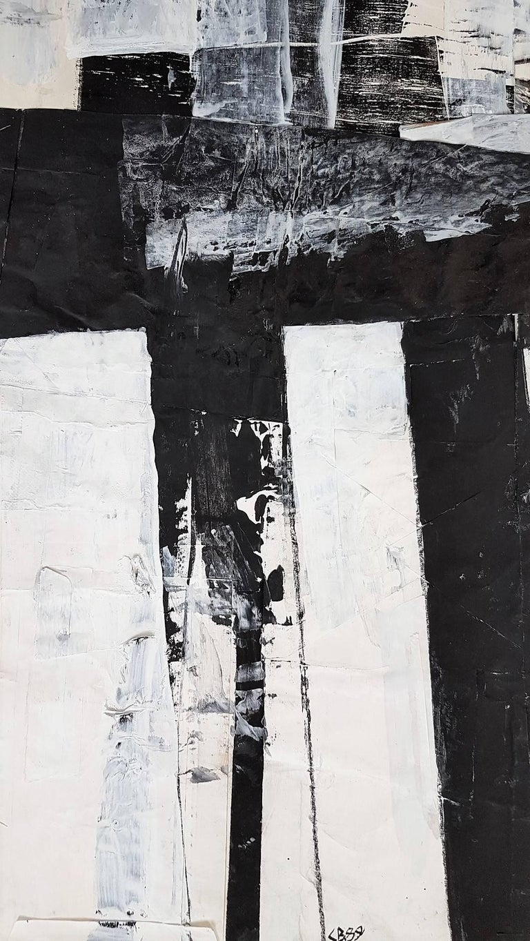 Untitled Gestural Abstraction - Painting by Claudia Busching