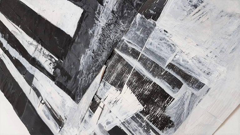 Untitled Gestural Abstraction - Contemporary Painting by Claudia Busching