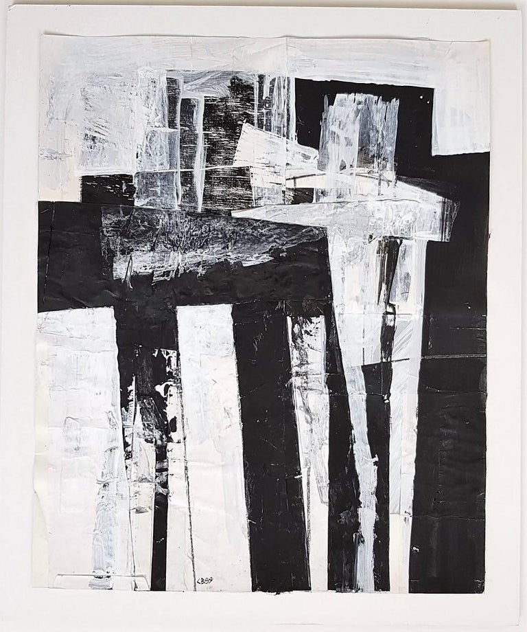 Claudia Busching Abstract Painting -  Untitled Gestural Abstraction