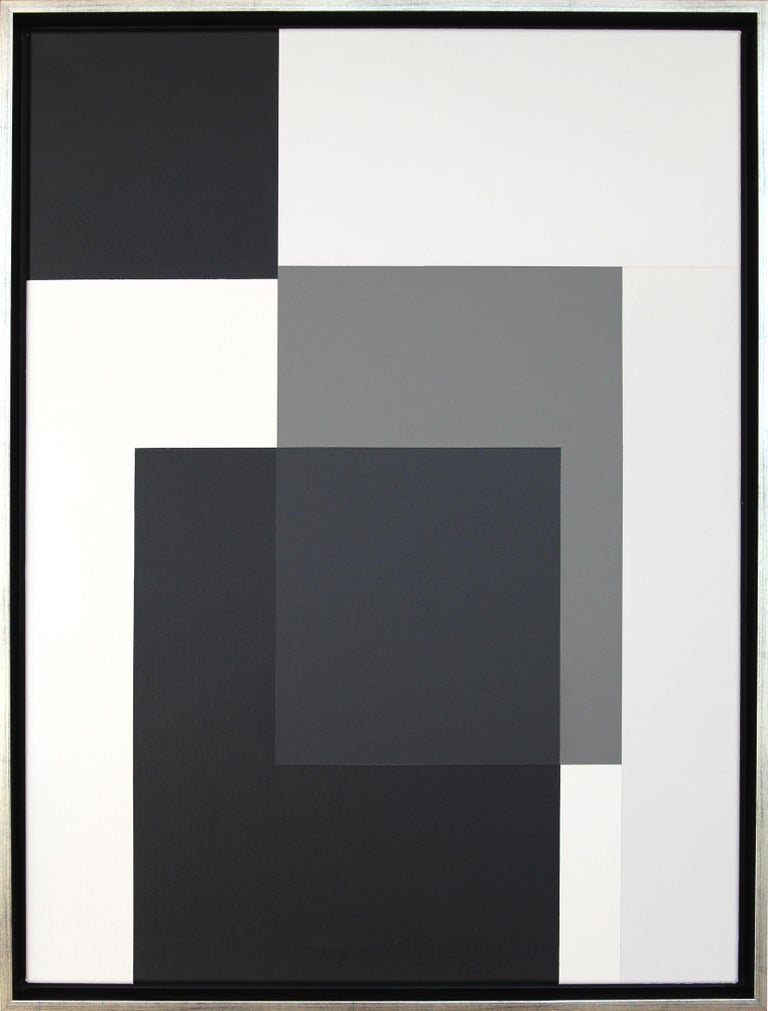 Acrylic painting on canvas, 2020.  Framed. The artwork comes directly from the artist's studio.  Dimensions: Height 33.19 in ( 84,3 cm ), Width 25.2 in ( 64 cm ), Depth 1.73 in ( 4,4 cm )  Claudia Fauth was born 1962 in Berlin. Lives and works as a