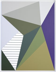 Acrylic Painting on Canvas Geometric Composition, 2019 by Claudia Fauth