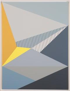Claudia Fauth Acrylic on Canvas Geometric Composition, 2019