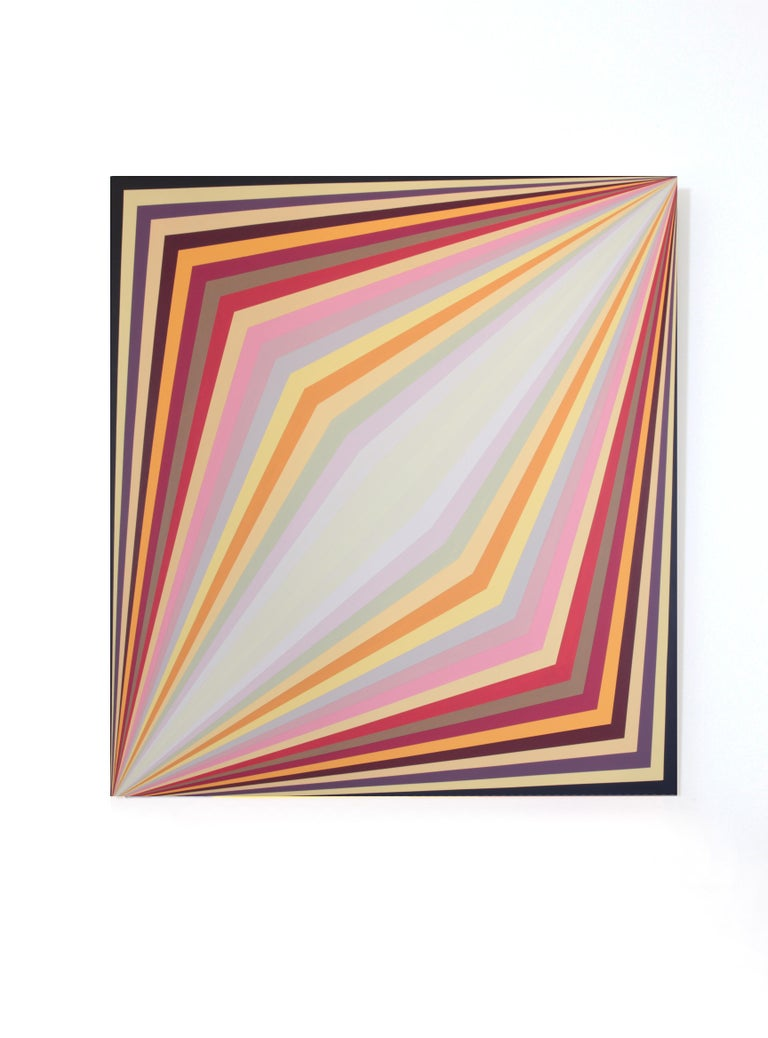 Claudia Fauth Acrylic on Canvas Geometric Composition - Abstract Geometric Painting by Claudia Fauth